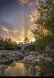 Заход солнца в Провансали Стоковые Изображения RF