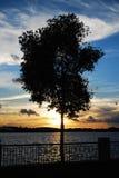 Заход солнца в Путраджайя стоковое фото