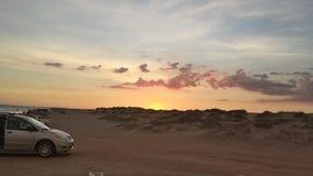 Заход солнца в пляже Стоковое фото RF