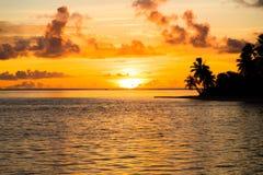 Заход солнца в рае Стоковые Фотографии RF