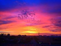 Заход солнца в рае Стоковое Изображение RF