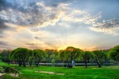 Заход солнца в русском Стоковое Изображение RF