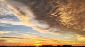 Заход солнца в Сабахе Борнео Стоковое Изображение