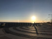 Заход солнца в Санкт-Петербурге Стоковые Фото
