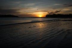 Заход солнца в Санте Каталине, Панаме Стоковые Изображения RF