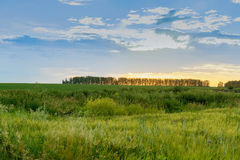 Заход солнца в сельской местности Стоковое фото RF