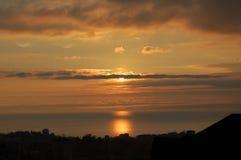 Заход солнца в Сочи Стоковое Изображение