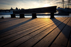 Заход солнца в Стокгольме Стоковая Фотография RF