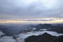 Заход солнца в сьерра-неваде Стоковая Фотография RF