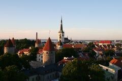 Заход солнца в Таллине Стоковое фото RF