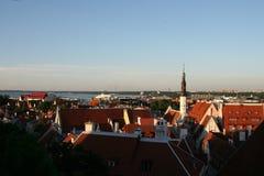 Заход солнца в Таллине Стоковые Изображения RF