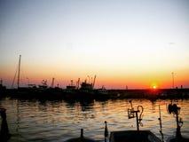 Заход солнца в Турции Стоковое Изображение