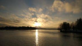 Заход солнца в Финляндии Стоковое Изображение RF