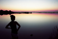 Заход солнца в Форментере Стоковое Изображение RF