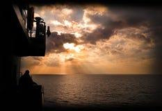 Заход солнца в франция Стоковые Фото