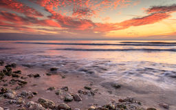 Заход солнца в Флориде Стоковое Изображение