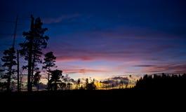 Заход солнца в Швеции 1 Стоковые Изображения
