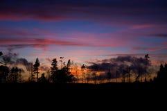 Заход солнца в Швеции 2 Стоковая Фотография RF