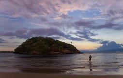 Заход солнца в Шри-Ланка Стоковая Фотография RF