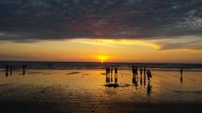 Заход солнца в Эквадоре Стоковые Изображения