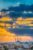 Заход солнца в Эдирне Стоковое Изображение RF