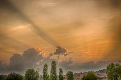 Заход солнца в Эдирне Стоковые Фотографии RF