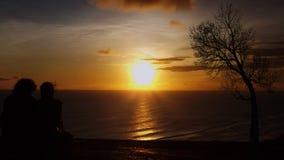 Заход солнца влюбленности Стоковая Фотография RF