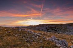 Заход солнца в alps стоковые фотографии rf