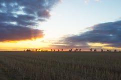 Заход солнца в Australià « Стоковое Изображение