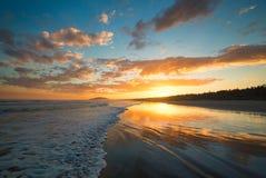 Заход солнца в Australià « Стоковое Фото
