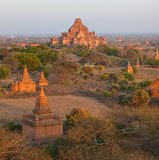 Заход солнца в Bagan Стоковое фото RF