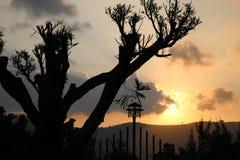Заход солнца в Batu Стоковые Изображения