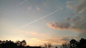 Заход солнца в Bavon стоковое фото