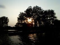 Заход солнца в Belleville, Ontairo Стоковая Фотография