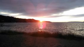Заход солнца в Beulah Стоковые Изображения RF