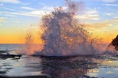 Заход солнца в camogli Стоковое Фото