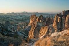 Заход солнца в Cappadocia Стоковое фото RF