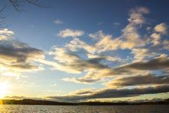 Заход солнца в Clemson Стоковые Изображения