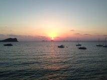 Заход солнца в conta cala Стоковая Фотография