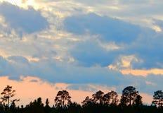 Заход солнца в GA Стоковая Фотография RF