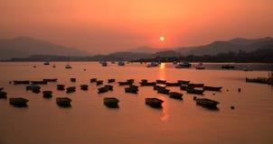 Заход солнца в Hon Kong, mei du dai Стоковое Фото
