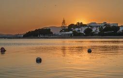 Заход солнца в Ibiza Стоковые Изображения
