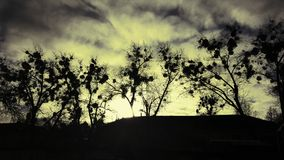 Заход солнца в Irpin стоковое изображение