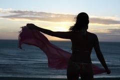 Заход солнца в jericoacoara Стоковая Фотография