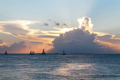 Заход солнца в Key West Стоковые Фотографии RF