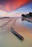 Заход солнца в Kota Kinabalu Сабахе Малайзии Стоковые Фото