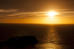 Заход солнца в Kusadasi, Турции стоковое изображение