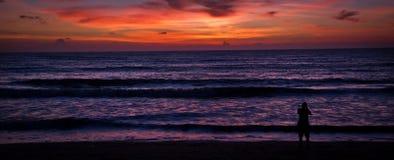 Заход солнца в Lak Kao Стоковые Изображения RF