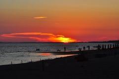 Заход солнца в Maremma Стоковое Фото