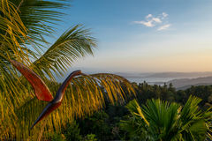 Заход солнца в Mochima, Венесуэле стоковое изображение